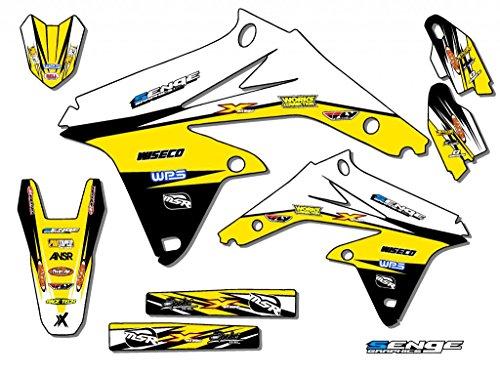 Senge Graphics 2005-2006 Suzuki RMZ 450 Velocity Yellow Graphics Kit