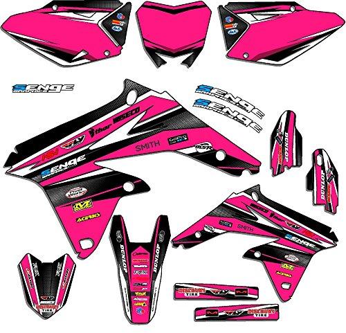 Senge Graphics 2005-2006 Suzuki RMZ 450 Vigor Pink Graphics Kit