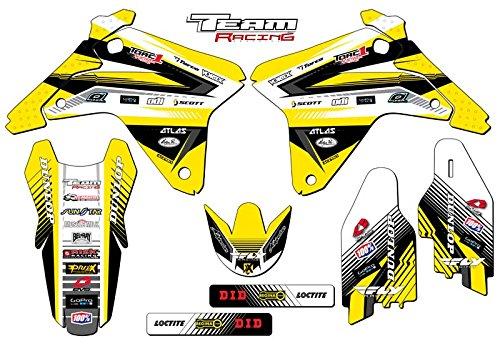 Team Racing Graphics kit for 2005-2006 Suzuki RMZ 450 ANALOGBase kit
