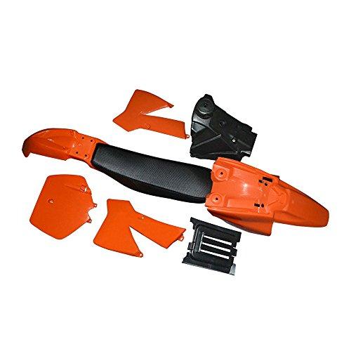 FLYPIG Plastic Tank Seat Body Fender Kit for KTM50 KTM 50 SX Senior Adventure Junior Orange