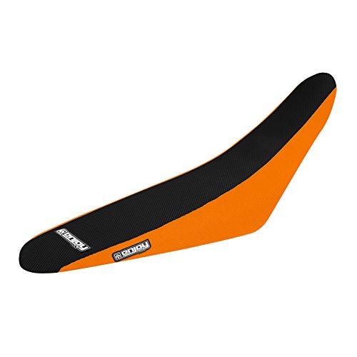 Enjoy MFG 2000 KTM SX 400  520 Orange Sides  Black Top Full Gripper Seat Cover - Team Issue