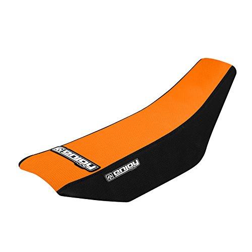 Enjoy MFG 2002 - 2008 KTM SX 65 Black Sides  Orange Top Full Gripper Seat Cover - Team Issue