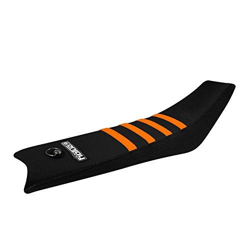 Enjoy MFG 2016 KTM SX 50 All Black Sides  Orange Ribs Ribbed Seat Cover - JDR