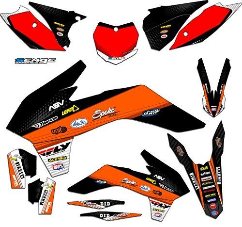 2013-2016 XC Ricochet Orange Complete Senge Graphics Kit Compatible with KTM