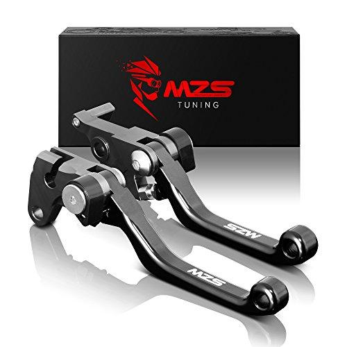 MZS CNC Pivot Brake Clutch Levers for KTM 125SX125EXCSIX DAYS 2005-2008144SX 2005-2008200XC 2005-2016200XC-W200EXC 2005-2008250SX-F 2005-2006 Black