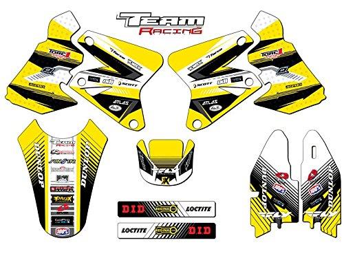 Team Racing Graphics kit for 2005-2017 Suzuki DRZ 400 ANALOGBase kit