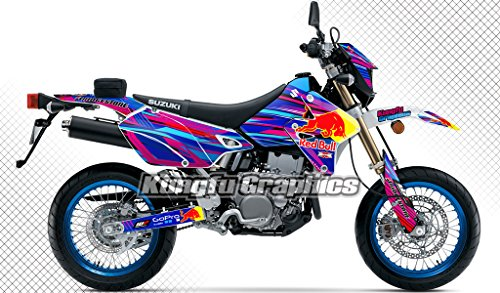 Kungfu Graphics Bull Custom Decal Kit for Suzuki DRZ400 SM 1999 up to 2018 Pink Blue