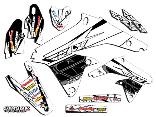 Senge Graphics 2000-2004 Suzuki DRZ 400 SM Fly White Graphics Kit