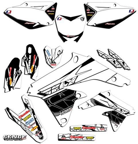 Senge Graphics 2005-2017 Suzuki DRZ 400 SM Fly White Graphics Kit