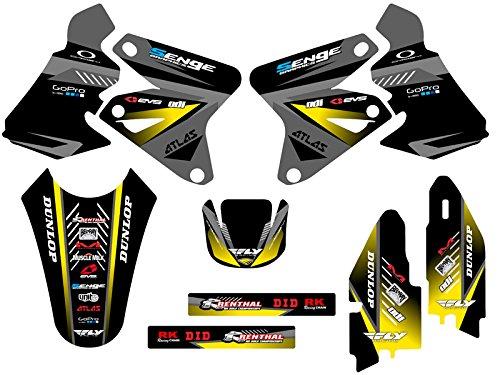 Senge Graphics 2005-2017 Suzuki DRZ 400 SM Surge Black Graphics Kit