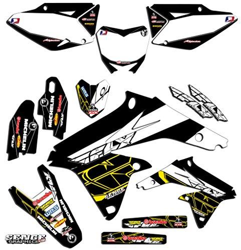 Senge Graphics 2000-2004 Suzuki DRZ 400 Fly Black Graphics Kit