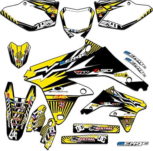 Senge Graphics 2000-2004 Suzuki DRZ 400 Mayhem Yellow Graphics Kit
