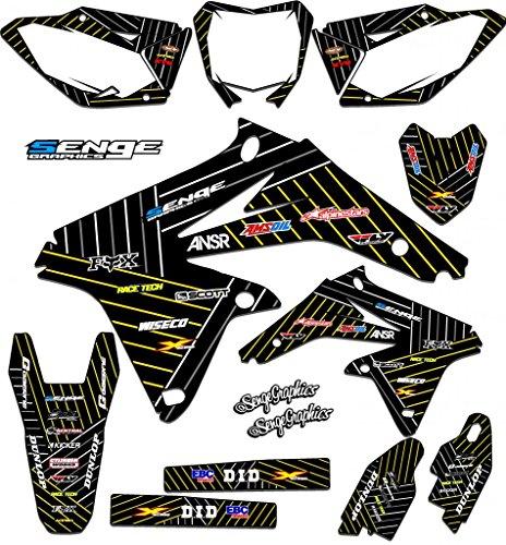 Senge Graphics 2000-2004 Suzuki DRZ 400 Race Series Black Graphics Kit