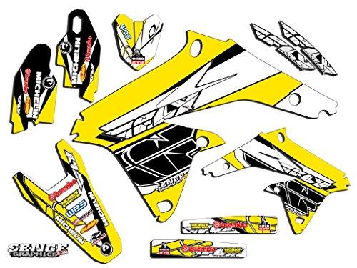 Senge Graphics 2000-2004 Suzuki DRZ 400 SM Fly Yellow Graphics Kit