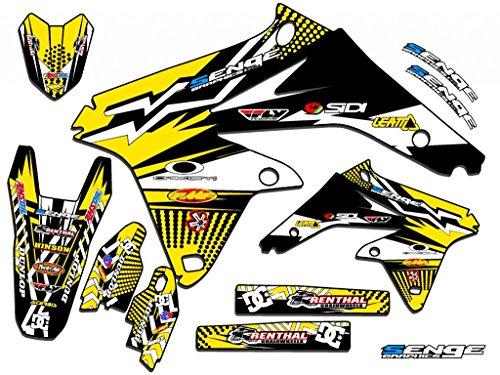 Senge Graphics 2000-2004 Suzuki DRZ 400 SM Mayhem Yellow Graphics Kit