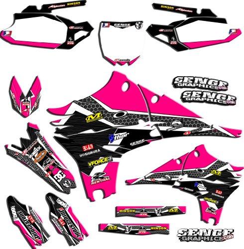 Senge Graphics 2000-2004 Suzuki DRZ 400 SM Podium Pink Graphics Kit