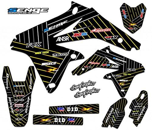 Senge Graphics 2000-2004 Suzuki DRZ 400 SM Race Series Black Graphics Kit