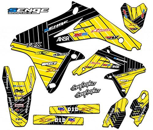 Senge Graphics 2000-2004 Suzuki DRZ 400 SM Race Series Yellow Graphics Kit