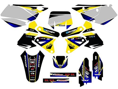 Senge Graphics 2000-2004 Suzuki DRZ 400 Surge Yellow Graphics Kit