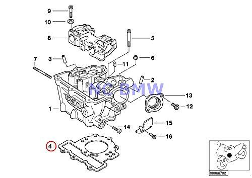 BMW Genuine Motorcycle Cylinder Head Gasket F650CS G650 Xchallenge G650 Xcountry G650 Xmoto F650GS F650GS Dakar G650GS G650GS Sertao