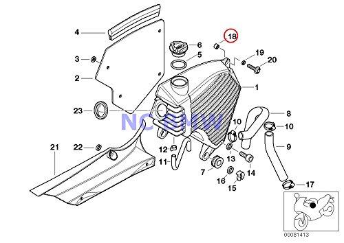 BMW Genuine Motorcycle Lubrication System Oil Tank Spacer Bush F650GS F650GS Dakar G650GS G650GS Sertao