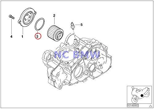 BMW Genuine Motorcycle Oil Filter O-Ring 5952X262 F650 F650ST F650CS G650 Xchallenge G650 Xcountry G650 Xmoto F650GS F650GS Dakar