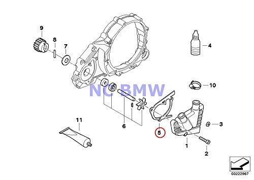 BMW Genuine Motorcycle Water Pump Gasket F650CS G650 Xchallenge G650 Xcountry G650 Xmoto F650GS F650GS Dakar