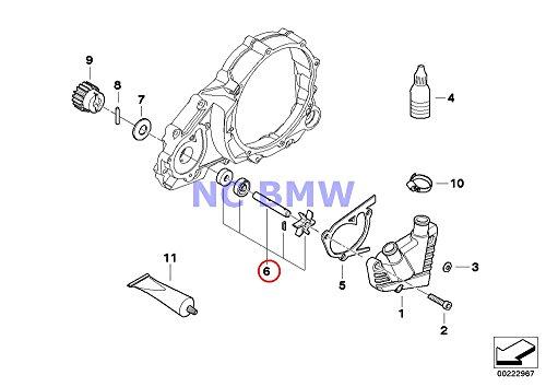 BMW Genuine Motorcycle Water Pump Water Pump Shaft Set F650 F650ST F650CS G650 Xchallenge G650 Xcountry G650 Xmoto F650GS F650GS Dakar