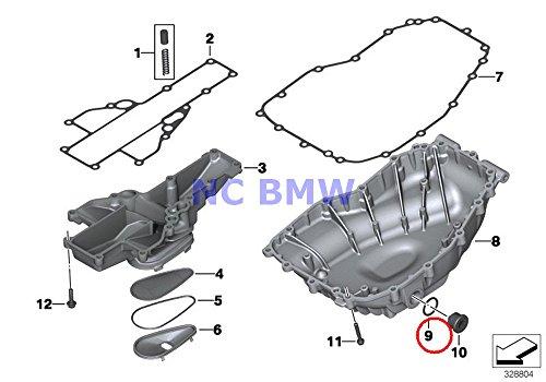 BMW Genuine Oil Pan Pump Gasket Ring 24X30X15 for F650CS G650 Xchallenge G650 Xcountry G650 Xmoto F700GS F800S F800ST F650GS F800GS F800R F650GS F650GS Dakar