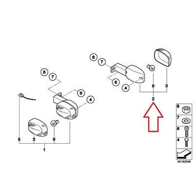 BMW Genuine Rear Left Turn Indicator F650CS F650GS F650GS Dakar G650GS