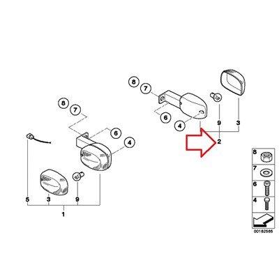 BMW Genuine Rear Right Turn Indicator F650CS F650GS F650GS Dakar G650GS