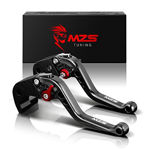 MZS Short Brake Clutch Levers for BMW K1200R 2005-2008K1200R SPORT 2006-2008K1200S 2004-2008R1200R 2006-2014R1200RTSE 2010-2013R1200S 2006-2008R1200ST 2005-2008R1200GS 2004-2012 Black