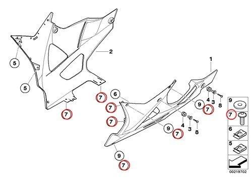 5 X BMW Genuine Motorcycle Fillister Head Screw M5X14 F650CS HP2 Enduro Megamoto R1200RT R900RT R1200R R1200ST HP2 Sport R1200S K1200S K1300S K1200R Sport K1300R K1200GT K1300GT S1000RR K1600GT