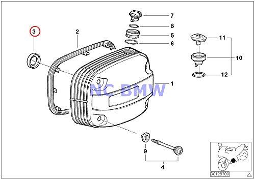 2 X BMW Genuine Motorcycle Cylinder Head Cover Interior Gasket R1100GS R1100R R850 R1100RS R1100S R1100RT R1200C R1200C Independent R1150GS R1150 Adventure R1150RS R1150RT R1150R