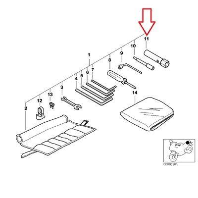 BMW Genuine Car tool Spark Plug Wrench R1100GS R1100R R850 R1100RS R1100S R1100RT R1150GS R1150 Adventure R1150RS R1150RT R1150R R1150R Rockster
