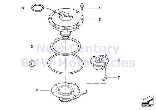 BMW Genuine Motorcycle Filler Cap O-Ring 73X53 R1100GS R1100R R850 R1100RS R1100S R1100RT R1200C R1200 Montauk R1200C Independent R1200CL R1150GS R1150 Adventure R1150RS R1150RT R1150R R1150R Rockste