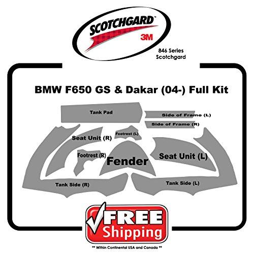 BMW F650 GS Dakar 2004-2008 - 3M 846 Scotchgard Paint Protection Film Kit