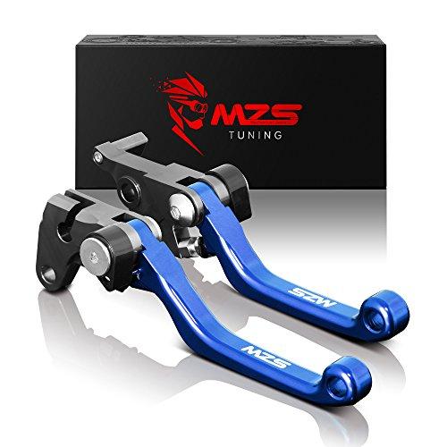 MZS CNC Pivot Brake Clutch Levers for Yamaha YZ125 YZ250 YZ426F YZ450F 2001-2007  YZ250F 2001-2006 Blue