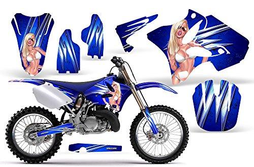 CreatorX Yamaha YZ125 YZ250 2 STROKE 2002-2012 Graphics You Rock Blue