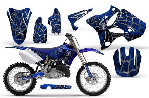 CreatorX Yamaha Yz125 Yz250 2 Stroke Graphics Kit Decals SpiderX Blue