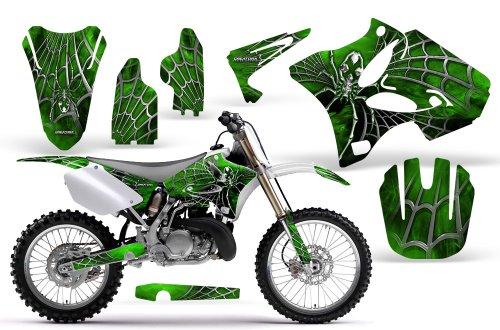 CreatorX Yamaha Yz125 Yz250 2 Stroke Graphics Kit Decals SpiderX Green