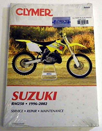 ATVMoto-X Suzuki Clymer Manual Models RM 250 1996-2002 WSM M401