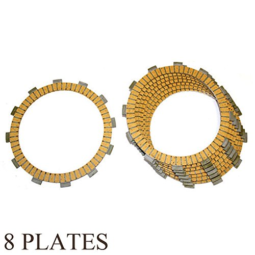 Caltric FRICTION CLUTCH PLATE Fits SUZUKI RM250 RM-250 CHAMPION 250 1996-2006 8-PLATES