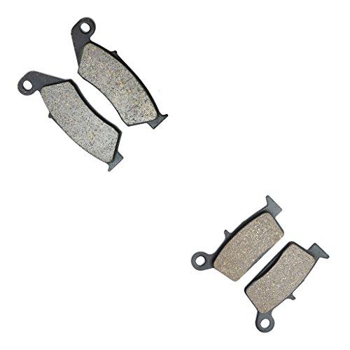 CNBK Carbon Disc Brake Pads Set fit HONDA Dirt Bike CR125 CR250 CR500 CR 125 cc 250 500 Supermotard with 320 mm disc 95 96 97 98 99 00 01 02 03 1995 1996 1997 1998 1999 2000 2001 2002 2003 4 Pads