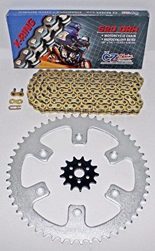 1987-2003 Honda CR125 CZ ORHG Gold X Ring Chain Sprocket 1248 114L