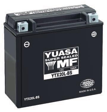 Yuasa YTX20L-BS Maintenance Free VRLA Battery for 2007-2010 Can-Am ATV Models