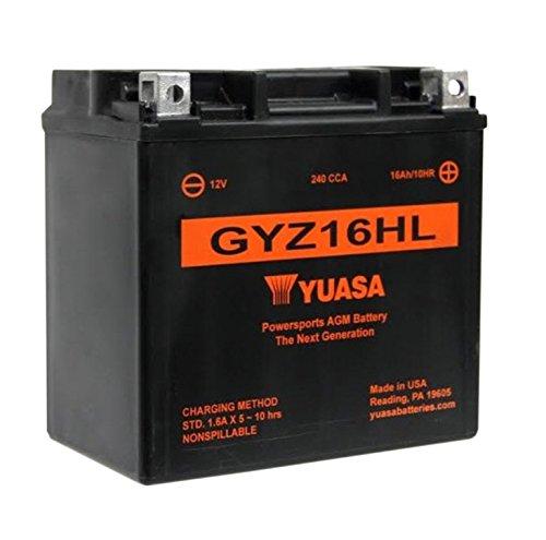 Yuasa YUAM716GHL GYZ16HL Factory Activated Battery