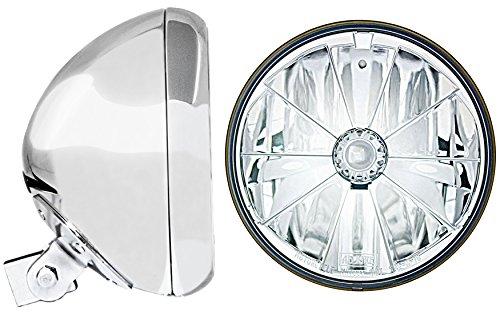 Adjure HB77010-7 Chrome 7 Universal Headlight Bucket and Headlamp Combo