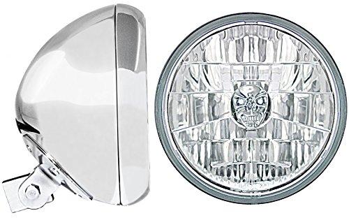 Adjure HB77010-SR Chrome 7 Universal Headlight Bucket and Headlamp Combo