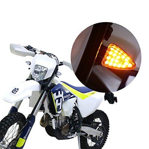 2×LED Turn Signal Lights Blinker Indicator Light Lamp for 2017 Kawasaki Ninja ZX6R ZX600P Yamaha Honda Suzuki Kawasaki Harley Davidson DUCATI BMW KTM BUELL APRILIA Triumph